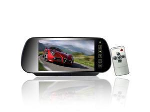 Foxnovo 7-inch 16:9 TFT-LCD Widescreen Car Rear View Mirror Display Monitor with Touch Buttons (Black)