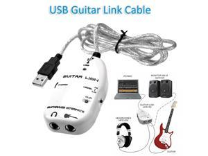 Foxnovo USB Guitar Link Cable to PC/MAC Audio Recording Adapter (White)