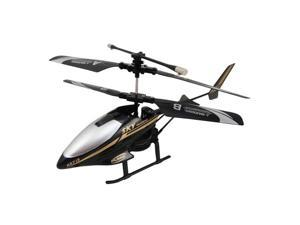 Foxnovo HX713 2.5CH RC Helicopter Alloy Body Radio Remote Control R/C Helicopter Airplane with LED Light (Black)