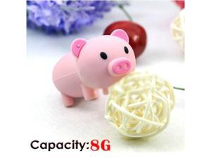 Foxnovo Cute Mini Cartoon Pig Shaped 8GB USB 2.0 Flash Drive Stick U-disk USB Flash Memory (Pink)
