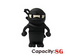 Foxnovo Cool Ninja Shaped 8GB USB 2.0 Flash Drive U-disk USB Flash Memory (Black)