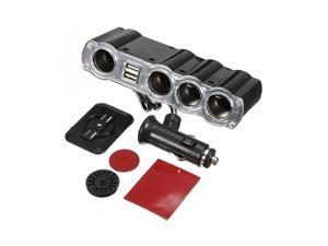 Foxnovo 4 in 1 Car Power Lighter Cigarette Cigar Socket 4 Way Splitter Adapter with 2 USB Port