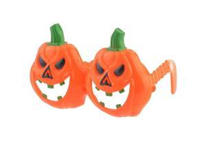 Foxnovo Funny Halloween Pumpkin Shaped Plastic Glasses Cosplay Prop for Parties /Costume Balls (Orange)