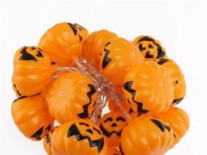 Foxnovo 2M 4.5V 3W 20-LED Battery Operated Pumpkin LED String Lights for Halloween (White)