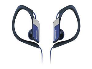 Panasonic RP-HS34M-A Sports Clip Earbud Headphones with Mobile Controller, Blue
