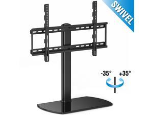 "Fitueyes Universal TV Stand Pedestal Base with Swivel Mount fits most 32""-60"" for Samsung, VIZIO, LG, Panasonic, LG LCD LED Plasma TVs"