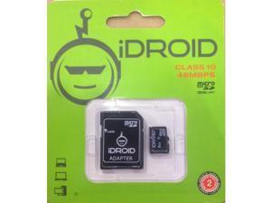 iDroid 64GB Micro SD w/ Adapter Class 10