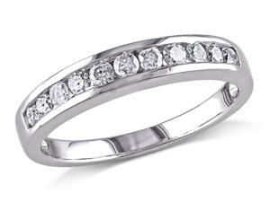 Julie Leah 1/2 CT TDW Diamond Sterling Silver Anniversary Ring