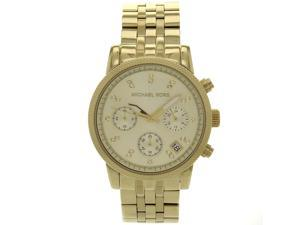 Michael Kors MK5676 Women's Ritz Gold Stainless Steel Watch with Chronograph