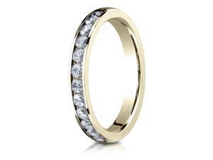0.48 CT 14K Yellow Gold 3mm High Polished Channel Set 12-Stone Diamond Ring