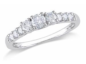 Julie Leah 1/2 CT TW 14K White Gold Multi-Stone Diamond Engagement Ring