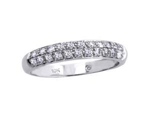 1/2 CT Diamond Band in 10K White Gold by Moda Di Oro