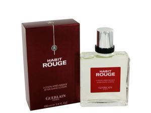HABIT ROUGE by Guerlain After Shave for Men (3.4 oz)