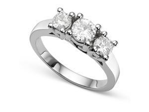 0.96 CT TW DEW Forever Brilliant® Moissanite Standard Ring in 14K White Gold