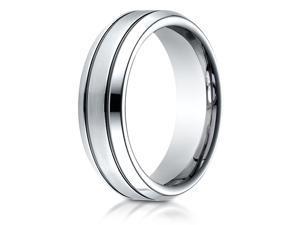 Cobalt 7.0mm Comfort-Fit Satin-Finished Blackened Design Ring
