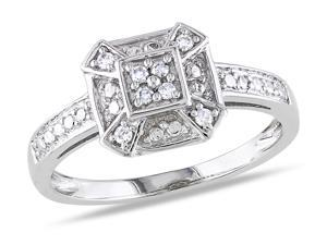 Julie Leah 10K White Gold Ring with Diamond Accents