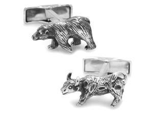 Sterling Bull and Bear Cufflinks
