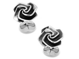 Sterling Origami Rose Cufflinks