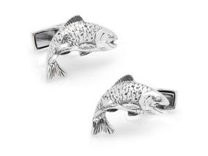 Sterling Salmon Cufflinks