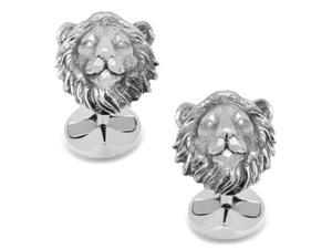 Sterling Lion Head Cufflinks