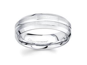 Chrome Cobalt Wedding Band for Men by Boston Bay Diamonds