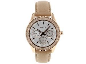 Fossil ES3104 Women's Stella Pink Leather Watch with Crystal Accents