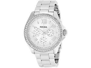Fossil AM4481 Women's Cecile Stainless Steel Watch with Crystal Accents