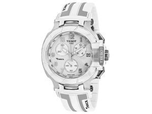 Tissot T-Race T0484171701200 Men's White Silicone Chronograph Watch