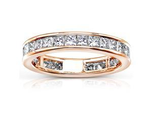 2 CT TW Diamond Eternity Wedding Band in 14K Rose Gold