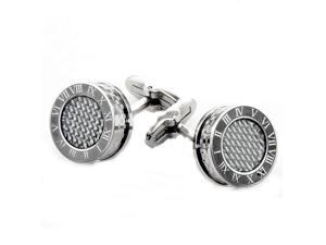 James Cavolini Italian Stainless Steel Roman Numeral Cuff Links