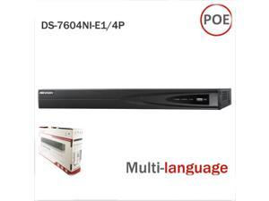 Original Hikvision DS-7604NI-E1/4P NVR With Multi-Language 4POE  Support Onvif for  IP Camera CCTV System Color Box Can be Update from Official Website