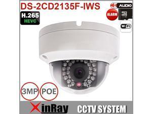 Hivision Camera DS-2CD2135F-IWS Mini WIFI Camera Support PoE Audio and Alarm I/O H.265  4mm Dome Camera