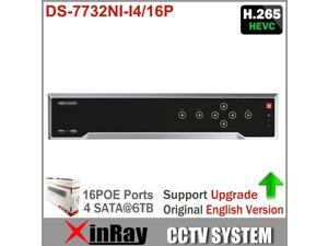Hikvision DS-7732NI-I4/16P 32CH 12MP NVR With 16PoE 4 SATA Interface Support Dual-OS Third-Party IP Camera H.265 NVR