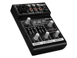 Talent MIX-R Mini Portable 3-Channel Mixer with USB Audio In 233-120