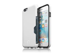 Patchworks® ITG Level Pro Case with Card Pocket White for iPhone 6s Plus 6 Plus, Military Grade Protection Case with a Card Pocket, Extra Protection for ITG Tempered Glass Screen Protector