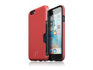 Patchworks® ITG Level Pro Case with Card Pocket Red for iPhone 6s Plus 6 Plus - Military Grade Protection Case with a Card Pocket, Extra Protection for ITG Tempered Glass Screen Protector
