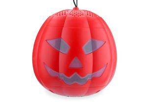 Wireless Pumpkin Speaker, Bnest Freak Stereo Outdoor Recharging Bluetooth Speaker in Pumpkin Style for Halloween Atmosphere(Red)