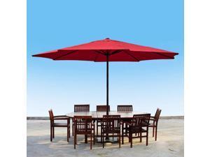 Apontus 13 Foot Market Patio Umbrella Outdoor Furniture Steel Red