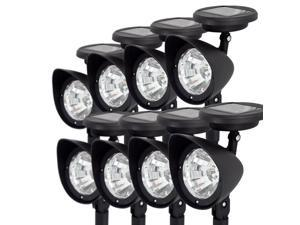 8 x Solar Powered Spot Lights Outdoor Garden Landscape LED Spotlight Lawn Path