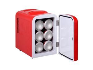 Portable Mini Fridge Cooler and Warmer Auto Car Boat Home Office AC/DC RED