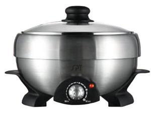 Sunpentown Multi Cooker |SS303| 4L stainless steel hot pot, 2L grill pan