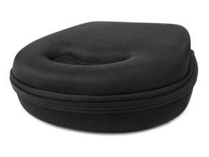 Hard 'Shell' EVA Headphone Pouch Case (Black) - Compatible with V-Moda XS 3D Custom Headphones - by DURAGADGET