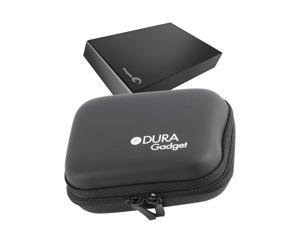 DURAGADGET Hardwearing Jet Black EVA Case With Soft Lining For Seagate Backup Plus Portable Drive 2TB STDR2000201 / 2TB STDR2000200 / 2TB STDR2000202 / 2TB STDR2000203