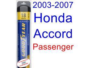 2003-2007 Honda Accord Wiper Blade (Passenger) (Goodyear Wiper Blades-Assurance) (2004,2005,2006)
