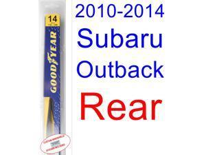 2010-2014 Subaru Outback Wiper Blade (Rear) (Goodyear Wiper Blades-Hybrid) (2011,2012,2013)