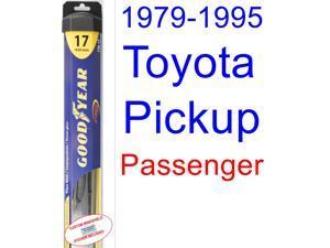 1979-1995 Toyota Pickup Wiper Blade (Passenger) (Goodyear Wiper Blades-Hybrid) (1980,1981,1982,1983,1984,1985,1986,1987,1988,1989,1990,1991,1992,1993,1994)