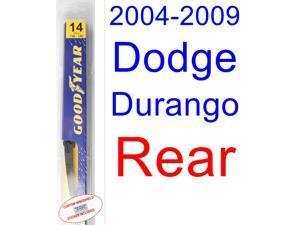 2004-2009 Dodge Durango Wiper Blade (Rear) (Goodyear Wiper Blades-Hybrid) (2005,2006,2007,2008)