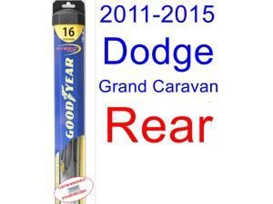 2011-2015 Dodge Grand Caravan Wiper Blade (Rear) (Goodyear Wiper Blades-Hybrid) (2012,2013,2014)