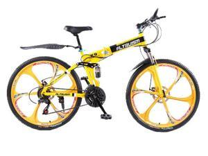 Folding Bicycles for Mens Unisex Children Altruism xirui X9 21 Speed 26 inch Steel Mountain Bike Bicycle Downhill