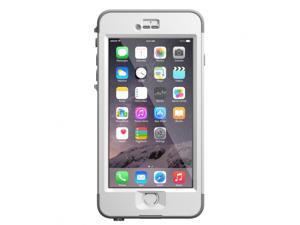 Lifeproof iPhone 6 Plus 5.5 screen Case Nuud Avalanche (Bright White/ Cool Gray)